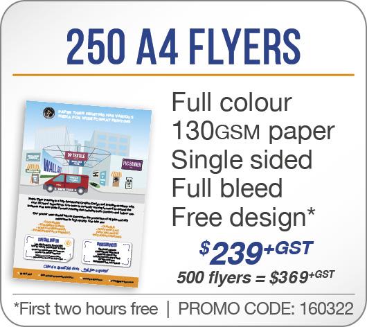 250 A4 Flyers