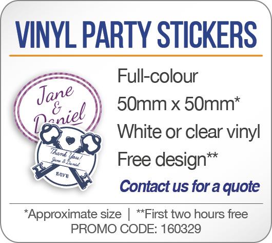 Vinyl Party Stickers